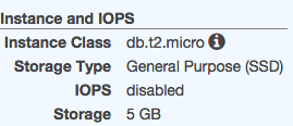 2014113001RDS AWS Console